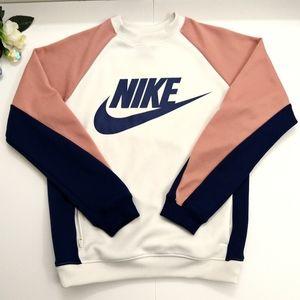 NWOT Nike Color Block Sweatshirt With Nike Logo
